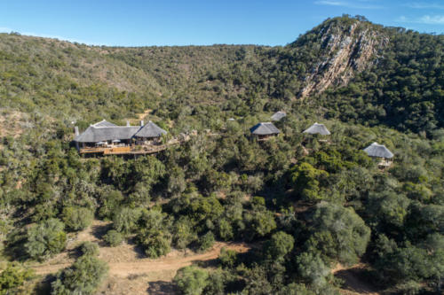 Lalibela Game Reserve - Inzolo Lodge - Aerial view of lodge