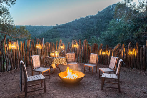 Lalibela Game Reserve - Inzolo Lodge - Outdoor boma & firepit